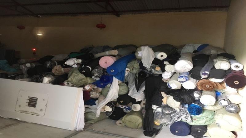 Lực lượng QLTT Hưng Yên thu giữ 7 tấn vải cuộn các loại không rõ nguồn gốc xuất xứ.
