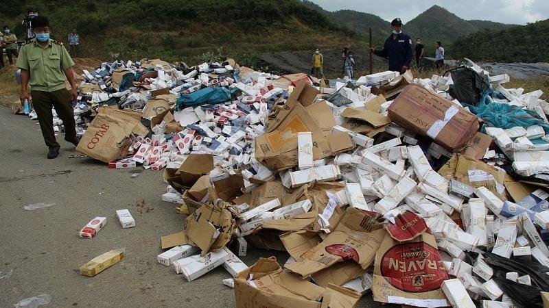 Khánh Hòa tiêu hủy gần 35.000 bao thuốc lá điếu nhập lậu