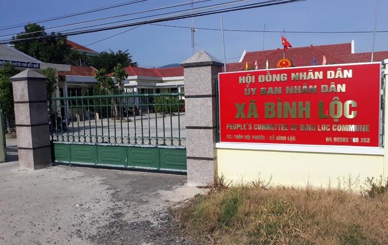 Xã Bình Lộc mới được thành lập từ ngày 1/4/2020.