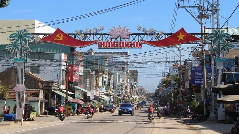 Một góc thị xã Hoài Nhơn.
