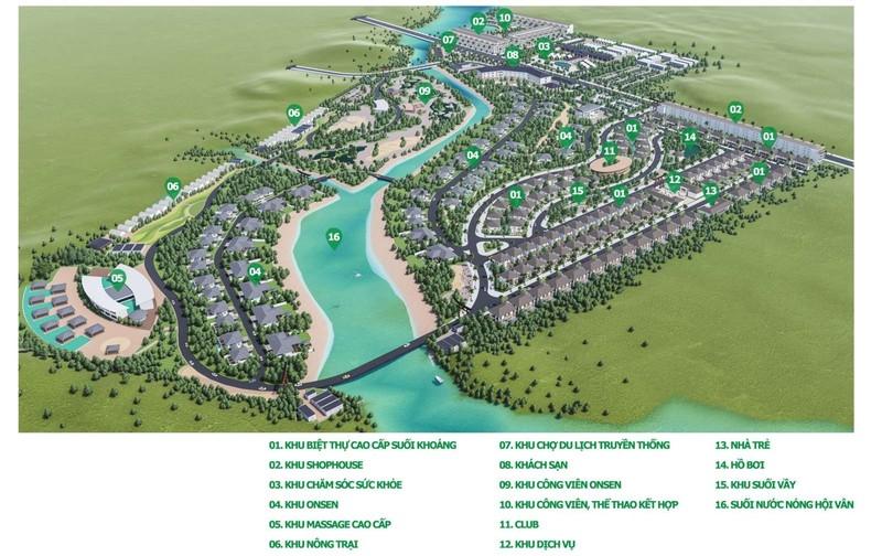 Quy hoạch chi tiết 1/500 của dự án và các khu lân cận.