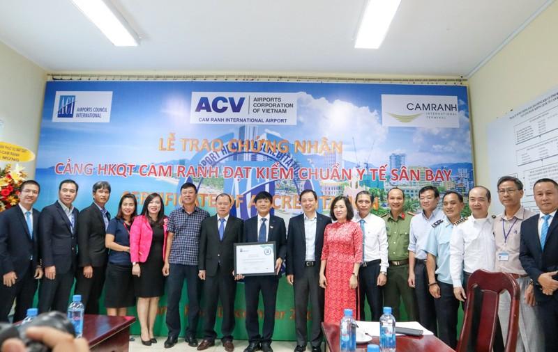Cảng hàng không quốc tế Cam Ranh được chứng nhận kiểm chuẩn y tế sân bay