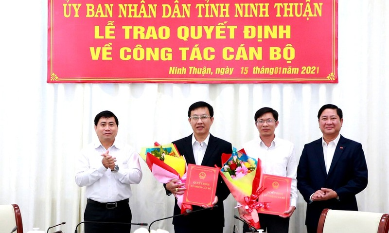 Ninh Thuận bổ nhiệm Giám đốc hai Sở