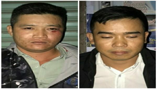 Nguyễn Lịch Sinh và Võ Văn Cẩm tại thời điểm bị bắt (Ảnh: CACC)