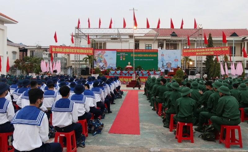 1.113 thanh niên Ninh Thuận đã lên đường nhập ngũ