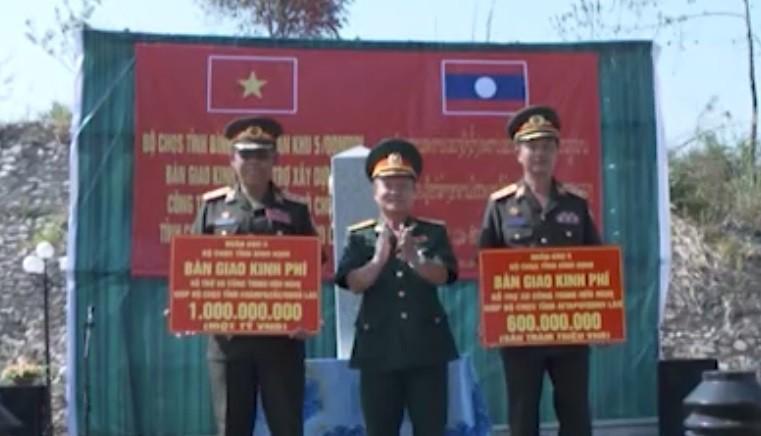 Bình Định hỗ trợ 1,6 tỷ đồng cho Bộ Chỉ huy Quân sự 2 tỉnh nước bạn Lào