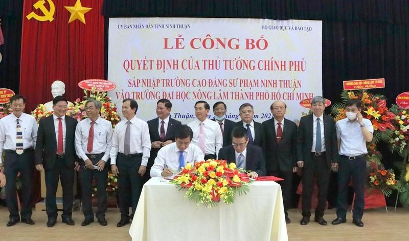 Sáp nhập Cao đẳng Sư phạm Ninh Thuận vào ĐH Nông Lâm TP HCM