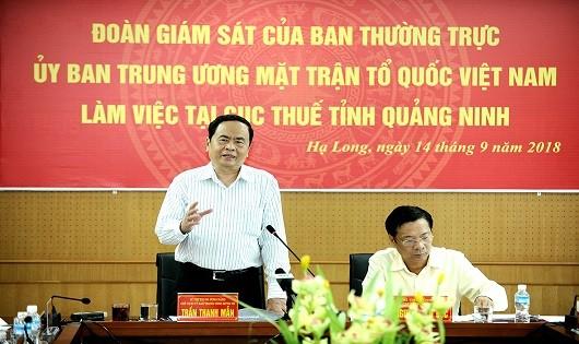 Ông Trần Thanh Mẫn phát biểu tại buổi làm việc.