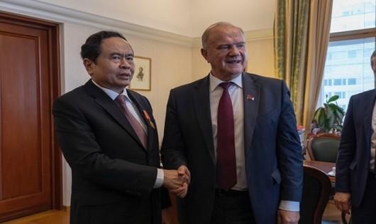 Chủ tịch Trần Thanh Mẫn gặp gỡ Chủ tịch Đảng Cộng sản LB Nga G. Zuganov
