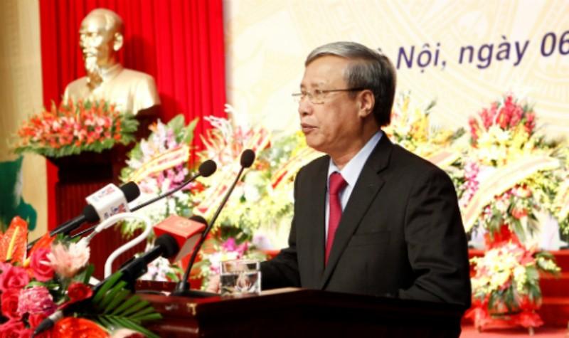 Ủy viên Bộ Chính trị, Thường trực Ban Bí thư Trần Quốc Vượng phát biểu tại Lễ kỷ niệm.