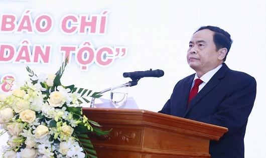Chủ tịch UBTW MTTQ Việt Nam Trần Thanh Mẫn phát biểu tại buổi lễ.