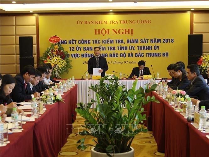 Ông Tô Quang Thu, Phó Chủ nhiệm UBKTTW phát biểu tại hội nghị. Ảnh: TTXVN