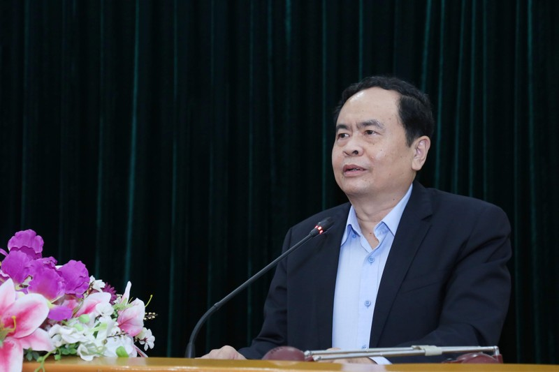 Ông Trần Thanh Mẫn phát biểu tại hội nghị.