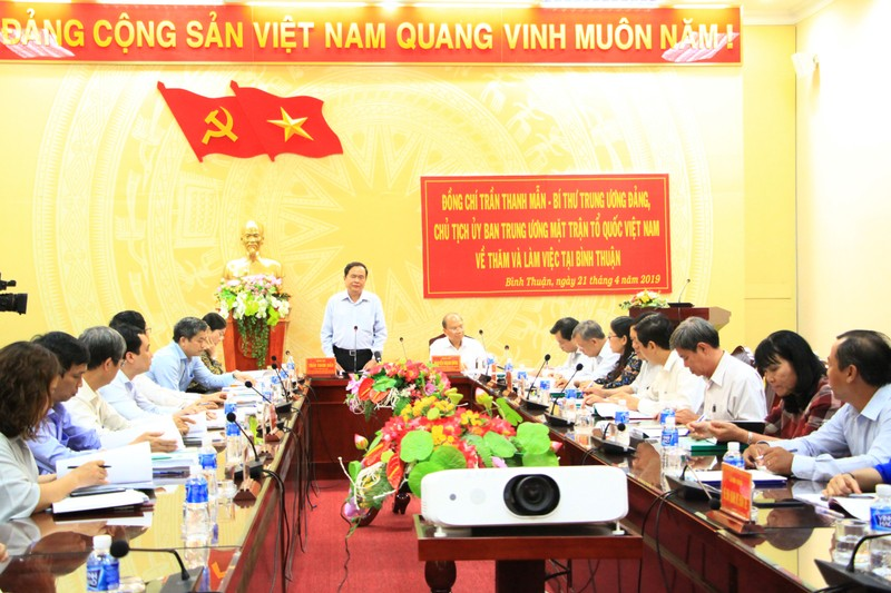 Ông Trần Thanh Mẫn phát biểu tại buổi làm việc