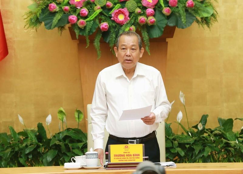 Phó Thủ tướng Thường trực Trương Hòa Bình phát biểu tại hội nghị.