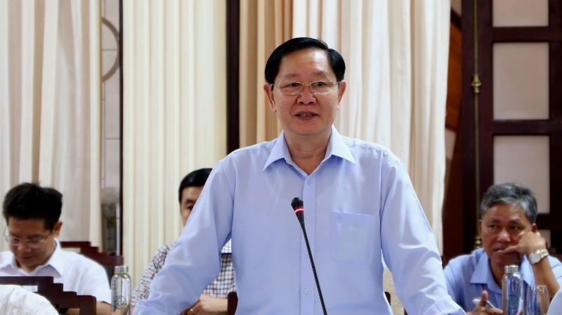 Bộ trưởng Bộ Nội vụ Lê Vĩnh Tân phát biểu tại buổi làm việc