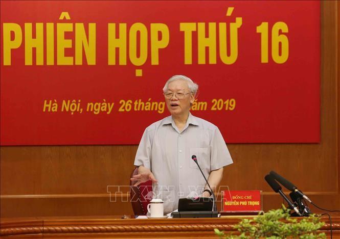 Tổng Bí thư, Chủ tịch Nước Nguyễn Phú Trọng phát biểu tại Phiên họp. Ảnh: Trí Dũng/TTXVN