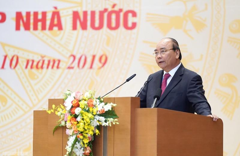 Thủ tướng Nguyễn Xuân Phúc phat biểu tại hội nghị.