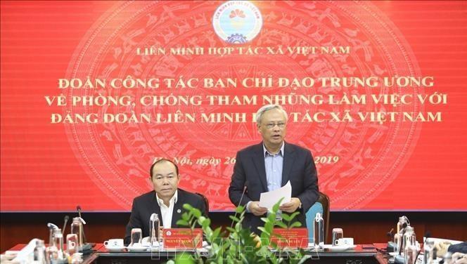 Phó Chủ tịch Quốc hội Uông Chu Lưu phát biểu tại buổi làm việc.