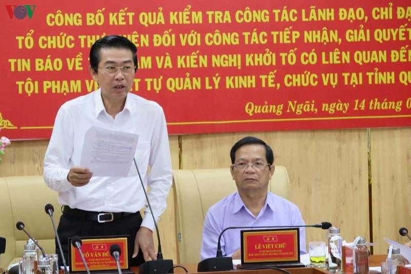 Ủy viên Trung ương Đảng, Phó Trưởng ban Thường trực Ban Nội chính Trung ương Võ Văn Dũng phát biểu tại buổi làm việc.