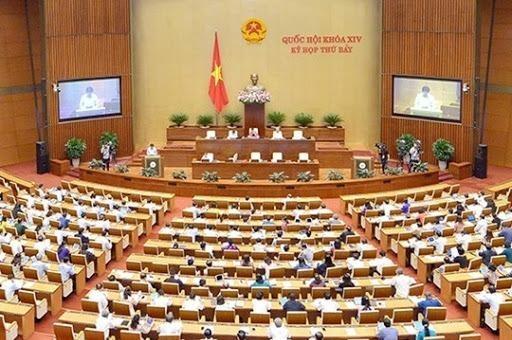 Một phiên họp của Kỳ họp thứ bảy, Quốc hội khóa XIV.