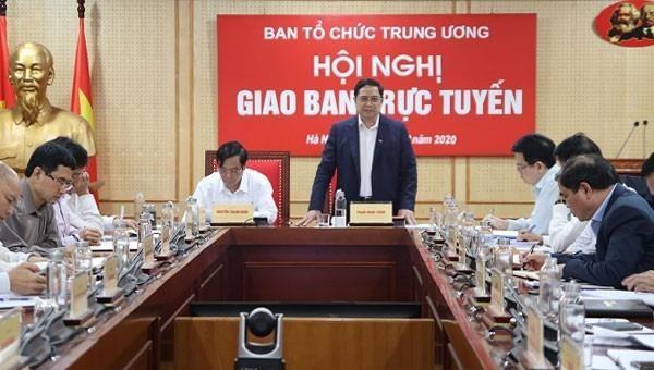 Ông Phạm Minh Chính phát biểu tại hội nghị.