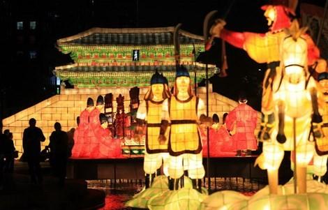 Lễ hội đèn lồng khổng lồ Việt Hàn tại Hà Nội