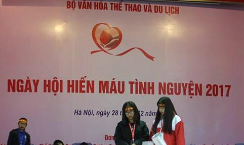 680 người hiến máu trong Lễ phát động Ngày hội hiến máu tình nguyện năm 2017