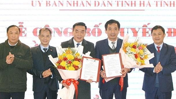 Buổi lễ công bố quyết định bổ nhiệm 2 tân Phó giám đốc Sở Y tế Hà Tĩnh