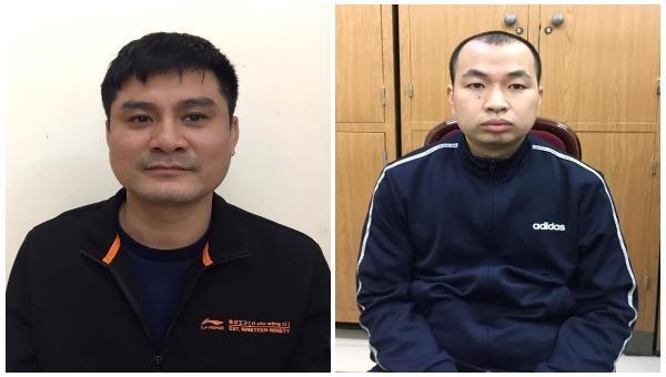 Ông trùm Phí Văn Huấn (bên trái) và trợ thủ đắc lực Trần Ngọc Anh