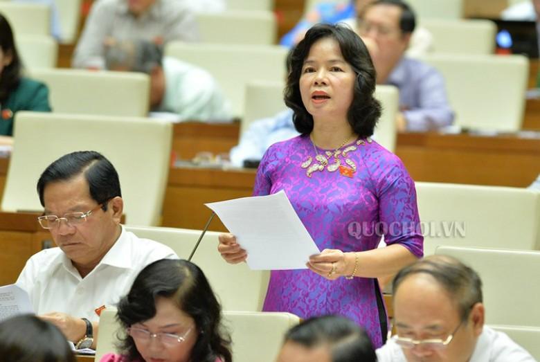 ĐBQH Phạm Thị Thu Trang (Quảng Ngãi) truy trách nhiệm của Bộ trưởng Nguyễn Thể
