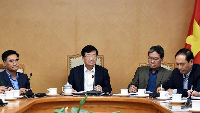 Phó Thủ tướng Trịnh Đình Dũng phát biểu tại cuộc họp