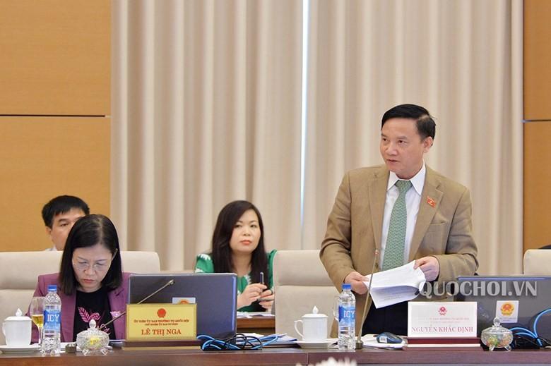 Chủ nhiệm Ủy ban  Pháp luật của Quốc hội Nguyễn Khắc Định