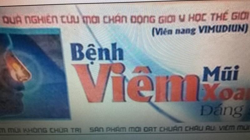 Sốc: Quảng cáo Viên nang Vimudiun đạt chuẩn châu Âu