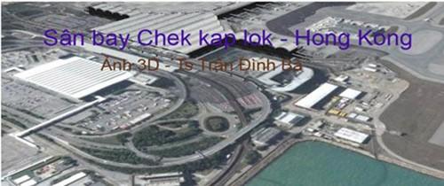 TS. Trần Đình Bá cho rằng, phối cảnh sân bay Long Thành được nhiều lần đưa ra giới thiệu có nhiều điểm tương tự hình ảnh của sân bay Chek Lap Kok (Hồng Kong).
