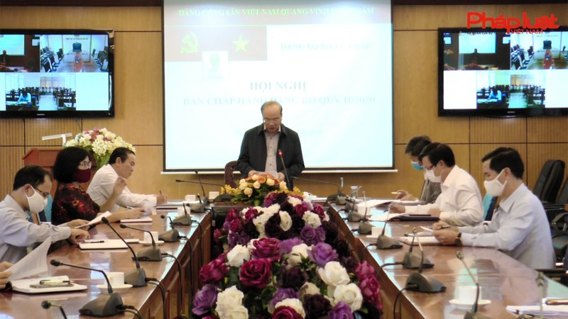 Đảng bộ Bộ Tư pháp họp Ban Chấp hành Đảng bộ Quý II năm 2020