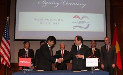 Vietjet ký kết thoả thuận hợp tác với Boeing (Mỹ)