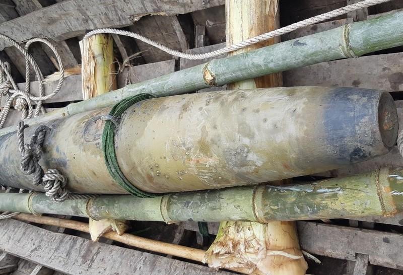 Quả bom Napal được  phát hiện, thu giữ