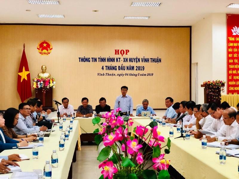 Toàn cảnh buổi họp báo giao ban báo chí định kỳ tỉnh Kiên Giang tháng 5/2019