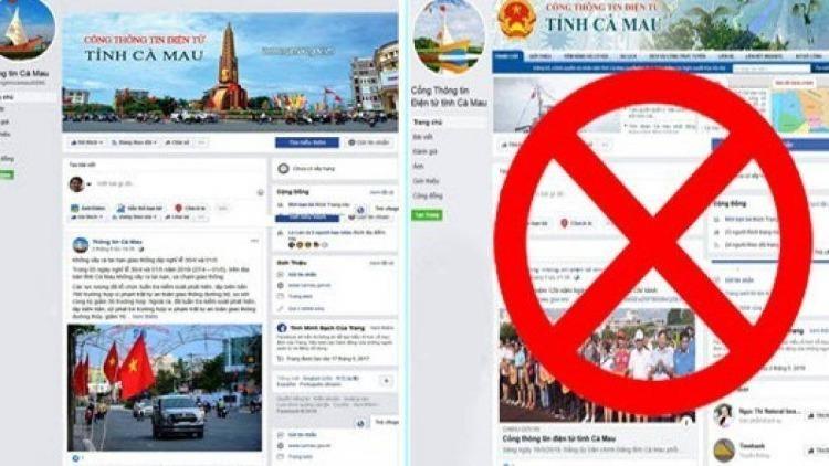 Xuất hiện fanpage 'mạo danh' Cổng thông tin điện tử tỉnh Cà Mau