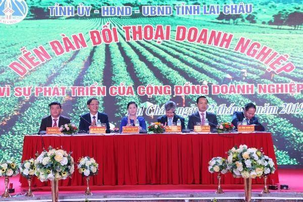 Toàn cảnh Diễn đàn Đối thoại doanh nghiệp tỉnh Lai Châu năm 2019