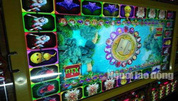 Máy chơi game quay thú ăn tiền chỉ xuất hiện ở các tụ điểm casino nhưng có dán em kiểm định của Sở VH-TT-DL Bạc Liêu