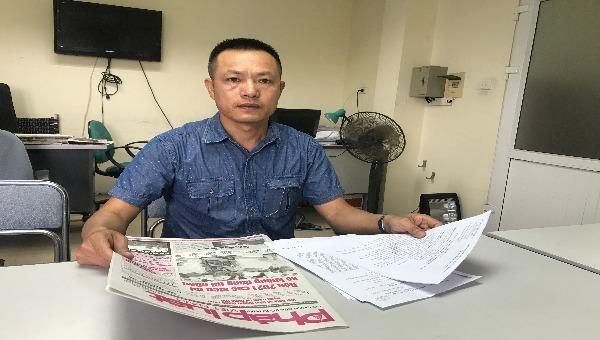 Ông Lương Văn Tòng trình bày tại Báo PLVN