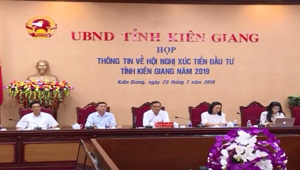 Toàn cảnh cuộc họp báo về Hội nghị xúc tiến đầu tư tỉnh Kiên giang 2019