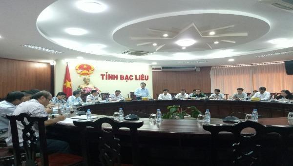 Đoàn công tác liên ngành Trung ương kiểm tra công tác phòng chống thiên tai tại Bạc Liêu