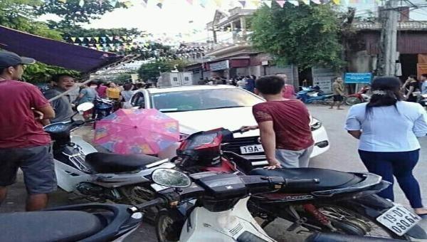 Hiện trường vụ triệt phá sới bạc tại xã Xuân Đài, huyện Tân Sơn (Phú Thọ)