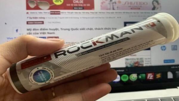 Sản phẩm Rockman được Công ty Cổ phần Nori Oganic quảng cáo như thuốc chữa bệnh