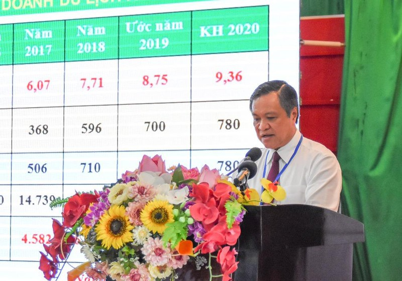 Ông Phạm Vũ Hồng - Phó Bí thư Tỉnh ủy, Chủ tịch UBND tỉnh Kiên Giang phát biểu khai mạc hội thảo