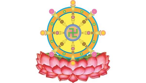 Hình tượng bánh xe lăn trong Phật giáo có ý nghĩa như thế nào?