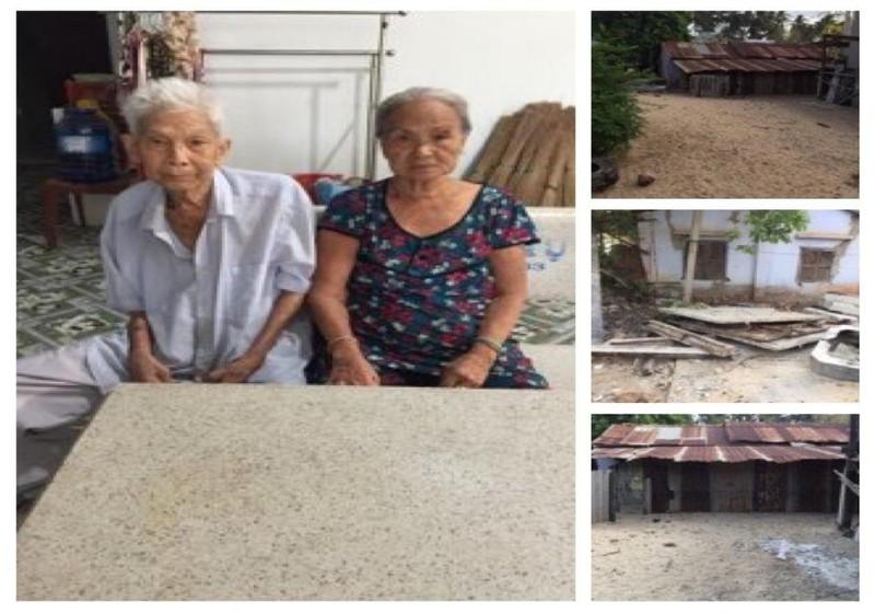 Đương sự Nguyễn Thị Nuôi (tức Lộc) và hình chụp phần đất tranh chấp có nguồn gốc là của cha mẹ mình